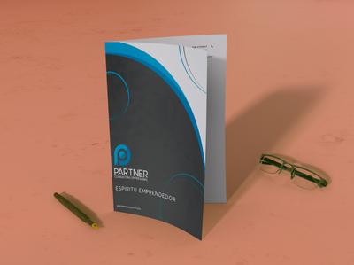 Folder: Partner company design artwork original art folder design