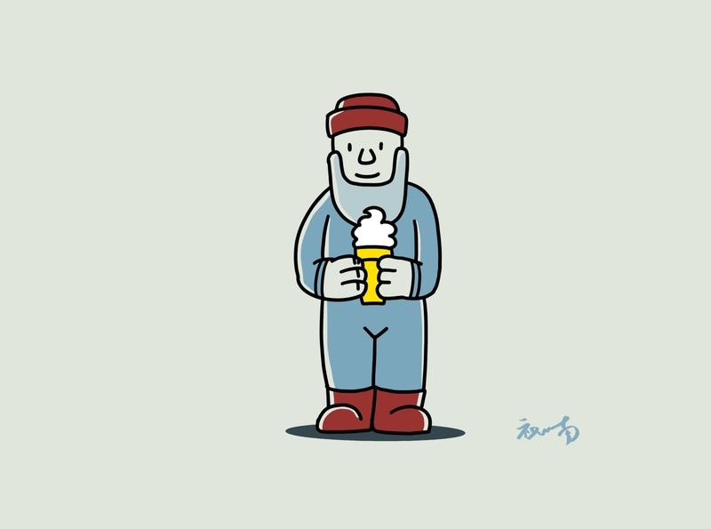ice-cream man icecream illustration identity