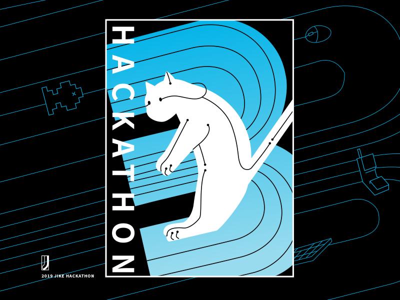 2019 JIKE HACKATHON blue tech hackathon cat