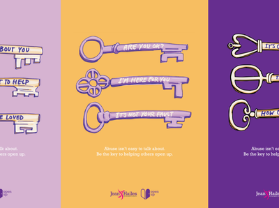 Open Up women empowerment campaign branding design illustration