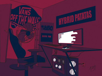 HYBRID PATATAS vector illustrator illustration
