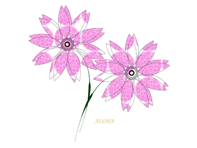 Aloha flower vector logo illustrator illustration icon art design animation
