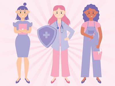 Women In Leadership gender equality woman illustration women in illustration women empowerment flat illustration vector illustration art illustration art