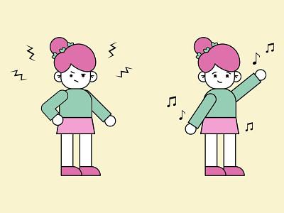 Dance your stress away :) digital art art illustrator cartoon vector illustration art illustration