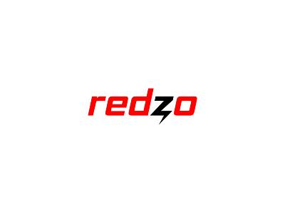 Redzo identity minimal design brand logo branding delivery thunder fast fast food