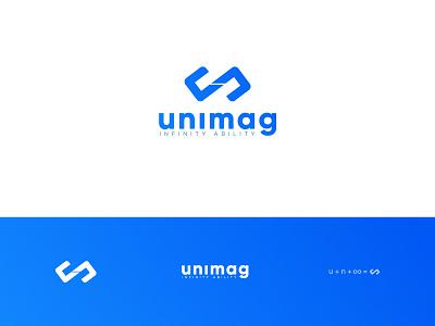 UniMag Online Store store identity hidden meaning lettermark infinity design branding logo brand minimal