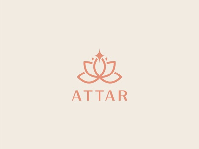 ATTAR flower tulip nature luxury identity minimal design brand logo branding