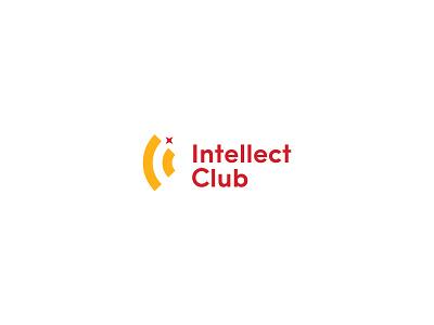 Intellect Club negative space hidden meaning lettermark star symbol identity minimal design brand logo branding