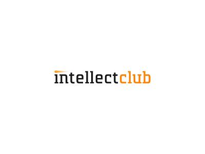 Intellect Club logo concept luxury fast academy wordmark identity minimal design brand logo branding