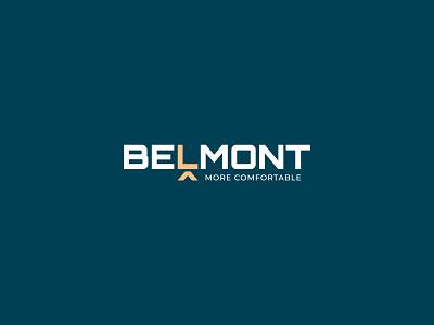 Belmont Furniture chair furniture symbol wordmark hidden meaning lettermark identity minimal design brand logo branding
