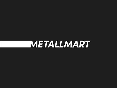 METALLMART black identity wordmark minimal design brand logo branding