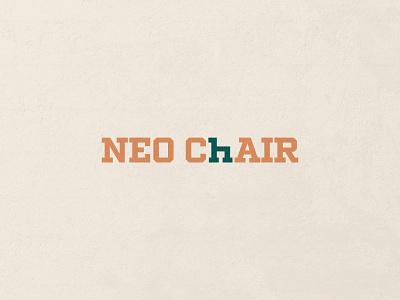 Neo Chair chair furniture wordmark minimal design brand logo branding