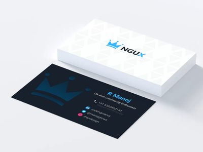 Visiting card with contrast colors typography design ui buisness card carddesign branding