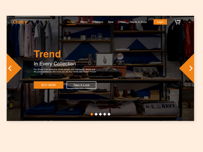 Landing page Design for a Clothing E-commerce Business website design uidesign userinterface ux landingpage ecommerce adobexd web design ui design