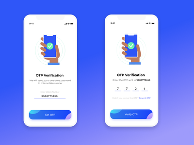 OTP Verification Screen ux illustration figmadesign app design figma branding ui design