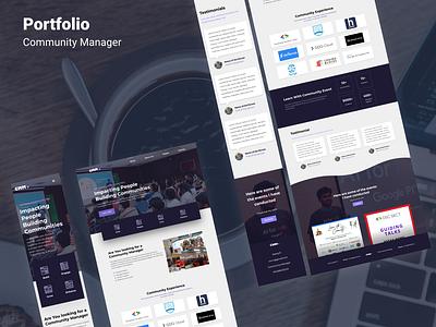 Portfolio Website Design branding figma design ux adobexd webpage design adobe xd portfolio design portfolio site web design portfolio landing page design ui design uiux ui