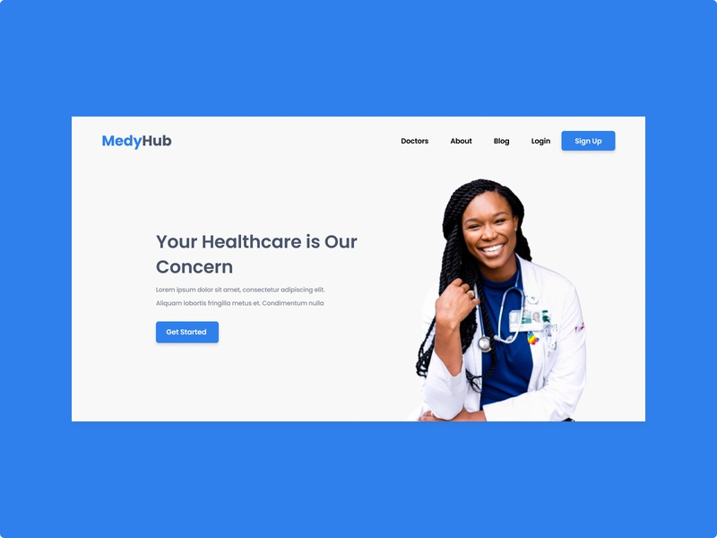 Medyhub Landing page website design ux ui