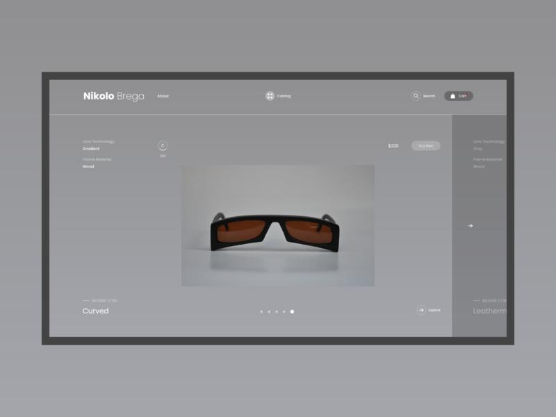 Nikolo Brega shop ecommerce website minimal concept xd web ux ui design