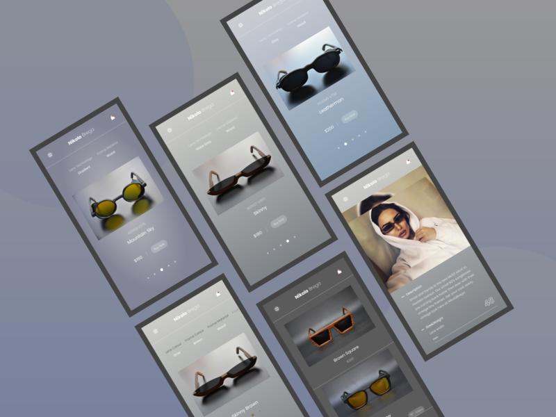 Nikolo Brega Website Responsive ecommerce redesign responsive shop app minimal concept xd web ux ui design