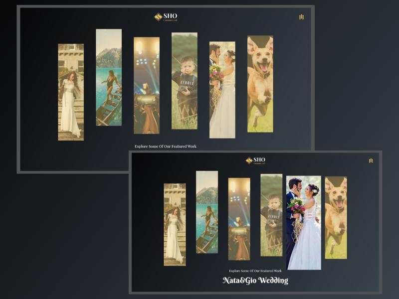 Videography Portfolio Website portfolio videography website minimal concept xd web ux ui design