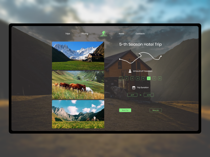 Plan your trip travel website minimal concept xd web ux ui design
