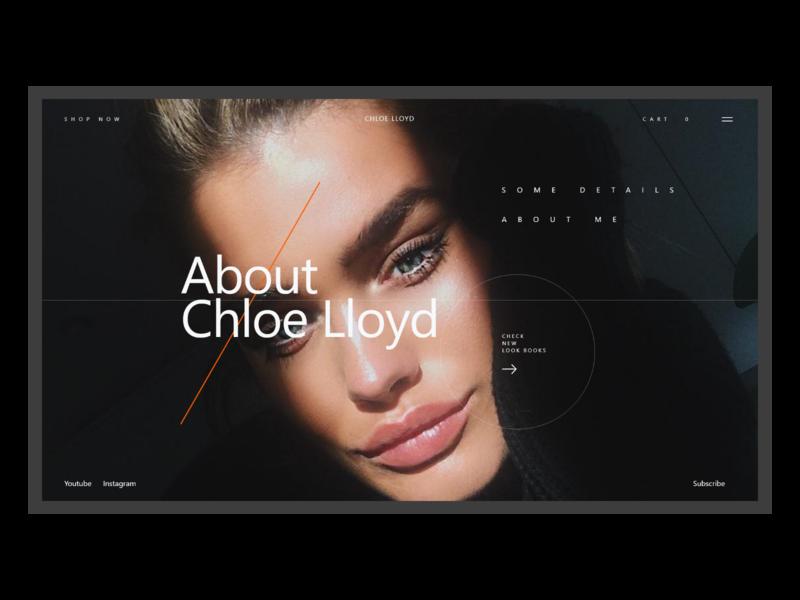 Fashion Influencer Website About Page influencer fashion ecommerce website minimal concept xd web ui ux design