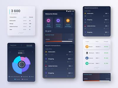 Mobile Banking UI mobile app mobile bank mobile banking app banking bank app bank application app minimal concept xd ux ui design