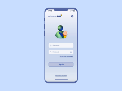 Reimagining Classics: MSN Messenger App nostalgia after effects messenger iphone x mobile xd animation ux design ux ui design ui uiux prototyping app design