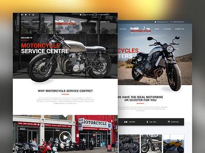 Motorcycle Service Centre ux design ui design web design