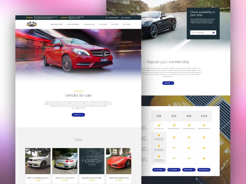 Car Care of Kensington automotive ux design ui design web design