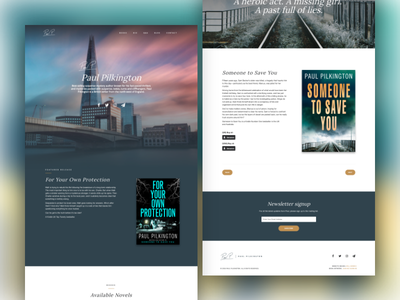 Paul Pilkington, Suspense Mystery Author novel book crime mystery author web development wordpress ux design ui design web design