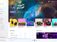 Dribbble music player light