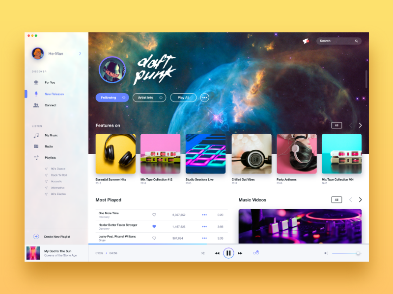 Music Player UI adobe xd music player ux design ui design