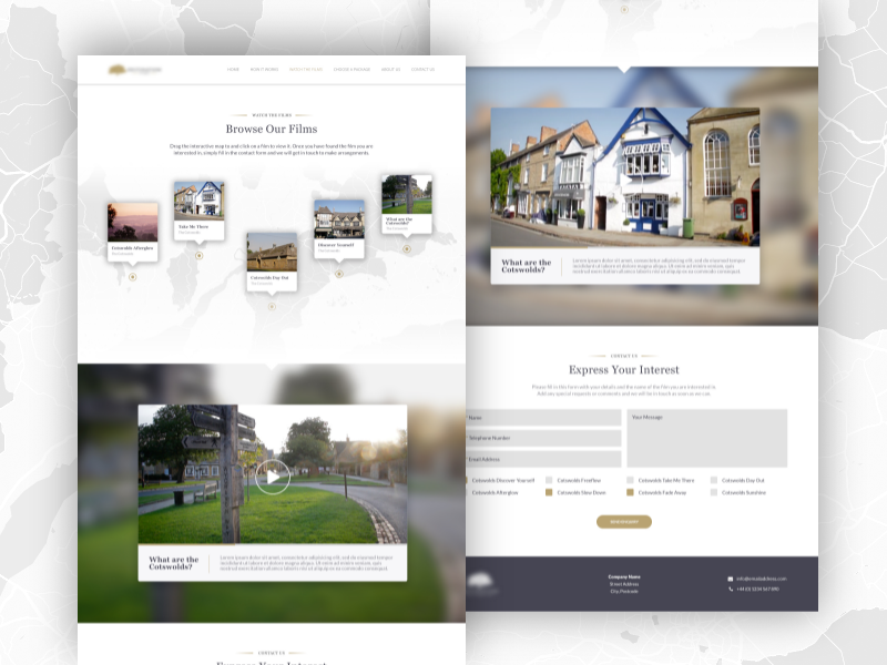 Tourism Website (Unused Pitch) ux design web ui design web design