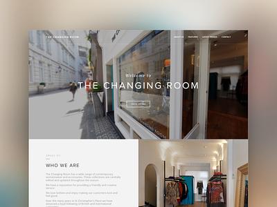 The Changing Room fashion ux design ui design web design