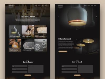 Concept Lighting Specialist Web Design