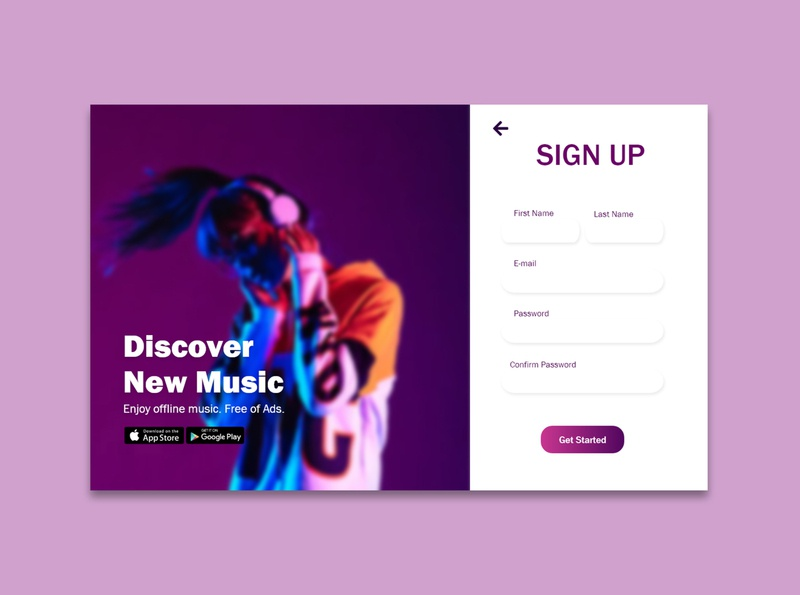 001 Sign Up daily ui challange daily ui 001 dailyuichallenge website design mobile app mobile app design daily ui mobile ui dailyui daily ui challenge ui app design design