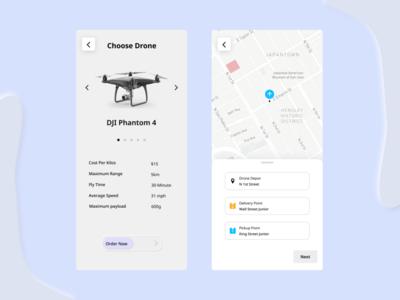 Drone Delivery App maps map sending delivery service delivery app delivery drone mobile ui mobile app ui design ux design