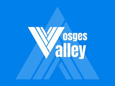Vosges Valley blue happinessdesigns corto bert vector branding design ski snowdrop traverse mount blanco brass peak valley vosges logodesign logotype logos logo dailylogodesign dailylogo dailylogochallenge