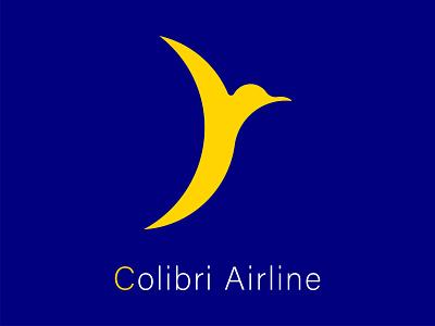 Colibri Airline DailyLogoChallenge 012 ui ios ux minimal logo design blue happinessdesigns corto bert airline logo dailylogodesign dailylogo logotype logos vector logodesign dailylogochallenge branding logo design