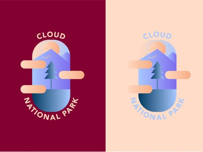Cloud National Park DLC 20 ios ux ui logodesign happinessdesigns cloud national park chair pink blue corto bert logos dailylogo logotype vector dailylogodesign branding design dailylogochallenge logo