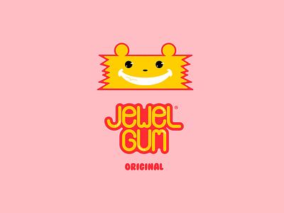 Jewel Gum DLC 21 packaging japan mascot cute gum pink red yellow happinessdesigns corto bert logos dailylogodesign dailylogo logotype vector logodesign design dailylogochallenge branding logo