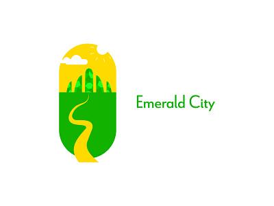 Emerald City DLC 22 hand lettering emerald city emerald illustration city oz yellow green happinessdesigns happiness corto bert dailylogodesign dailylogo logotype logodesign vector dailylogochallenge design branding logo