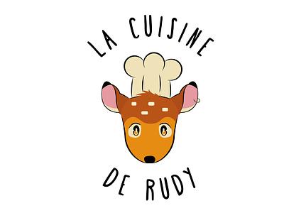 La cuisine de Rudy (DLC 19 update) bambi fawn cooking cook cuisine logo design logotype ux ui logodesign design logo vector happinessdesigns dailylogochallenge corto bert branding