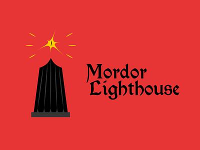 Mordor Lighthouse DLC 31 lighthouse sauron lord of the rings logotype dailylogodesign logodesign design vector logo happinessdesigns dailylogochallenge corto bert branding