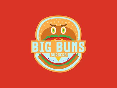 Big Buns Burgers DLC 33 big buns burger logotype dailylogodesign logodesign design vector logo happinessdesigns dailylogochallenge corto bert branding