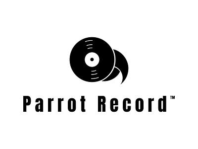 Parrot Record DLC 36 parrot record record label logotype dailylogodesign logodesign design vector logo happinessdesigns dailylogochallenge corto bert branding