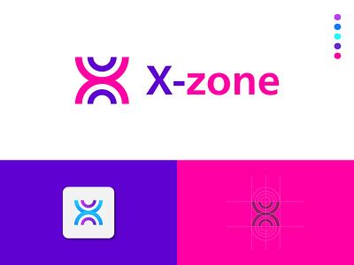 X-zone Logo design logo magenta x logo color minimal unique logo modern logo letter mark logo gradient logo flat logo symbol branding x letter logo logo design