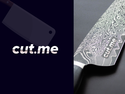 Cut.me - Modern & Minimal LetterMark Logo Design logo logo designer minimal company logo cut simple sajul2590 symbol lettermark wordmark knife simple logo flat logo letter logo modern logo