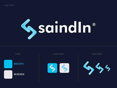 S Letter Modern Logo Design colorful simple logotype graphic design illustrator vector symbol unique logo ice gradient logo logo flat logo minimal s letter icon sajul2590